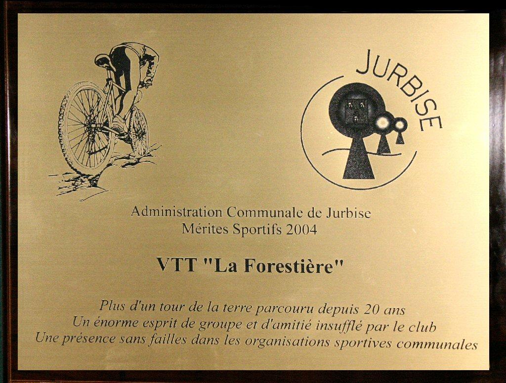"Mérite sportif VTT ""La Forestière"""